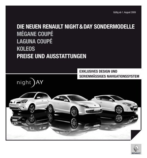 Die NeueN ReNault Night & Day SoNDeRmoDelle mégaNe Coupé ...