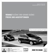 Renault SCénIC und GRand SCénIC PReISe und auSStattunGen