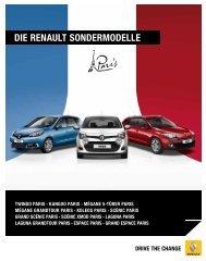 Die renault SonDermoDelle - Renault Preislisten