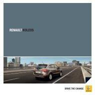 RENAULT koLEos - Renault Preislisten