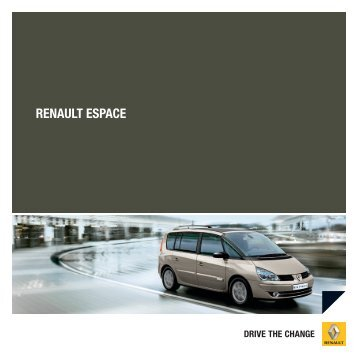 RENAULT ESPACE - Renault Preislisten