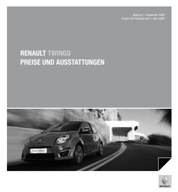 Renault twingo PReise und ausstattungen - Renault Preislisten