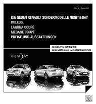 Die NeueN ReNault SoNDeRmoDelle Night & Day KoleoS laguNa ...