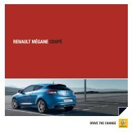 RENAULT MÉGANE coUpÉ - Renault Preislisten