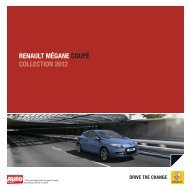 RENAULT MÉGANE coUpÉ coLLEcTioN 2012 - Renault Preislisten
