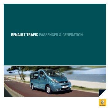 RENAULT TRAfic PASSENGER & GENERATiON
