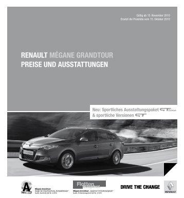 Renault mégane gRandtouR PReise und ausstattungen