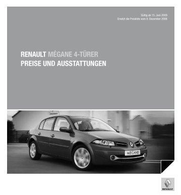 renault mégane 4-türer preise und ausstattungen - Renault Preislisten