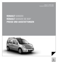 Renault kangoo Renault kangoo Be Bop pReise und ausstattungen