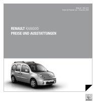 Renault kangoo PReise und ausstattungen - Renault Preislisten