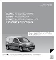 Renault Kangoo Rapid MaXi Renault Kangoo Rapid Renault ...