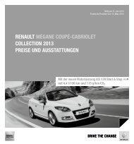 Preisliste - Renault Preislisten