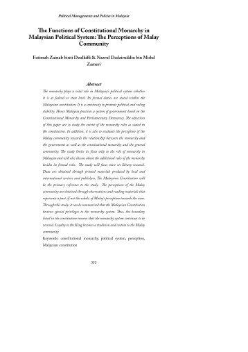 constitutional monarchy and malaysia essay An essay on the constitutional history of malaysia - free download as word doc (doc), pdf file (pdf), text file (txt) or read online for free.