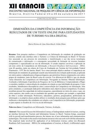 dimens®es da competçncia em informação: resultados de um ... - Ibict