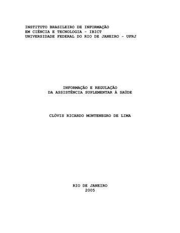INSTITUTO BRASILEIRO DE INFORMAÇÃO - Ibict