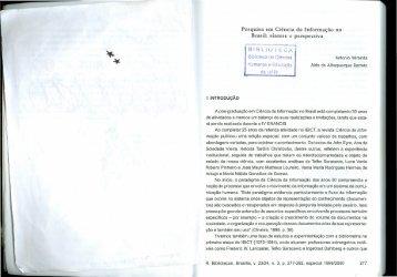 Pesquisa em Ciência da Informação no Brasil: síntese e ... - Ibict