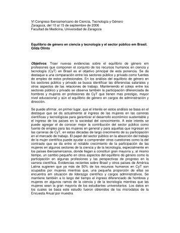 VI Congreso Iberoamericano de Ciencia, Tecnología y Género ...