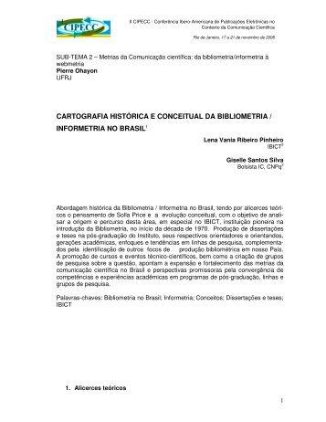 cartografia histórica e conceitual da bibliometria / informetria ... - Ibict