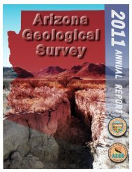 Arizona Geological Survey Annual Report 2011 - AZGS Document ...