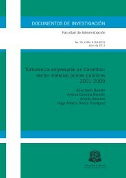 Turbulencia empresarial en Colombia: sector materias primas ...