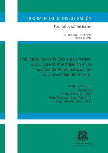 Implicaciones de la Escuela de Verano 2011 para la Investigación ...