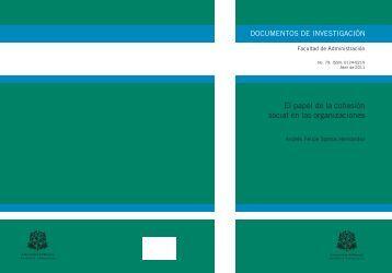 El papel de la cohesión social en las organizaciones - Repositorio ...