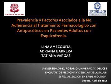 Prevalencia y Factores Asociados a la No Adherencia al ...