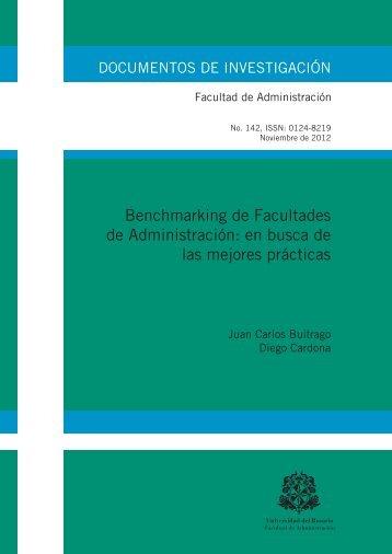 Benchmarking de Facultades de Administración: en busca de las ...