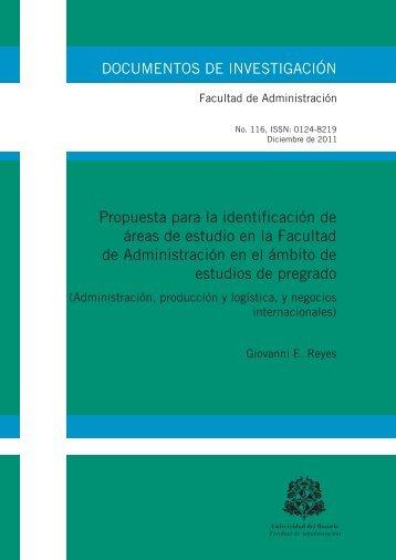 Propuesta para la identificación de áreas de estudio en la Facultad ...