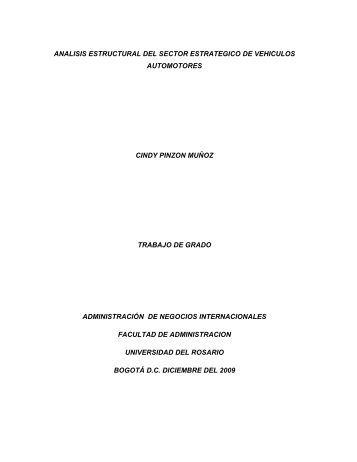 analisis estructural de sectores estrategicos de la economia ...