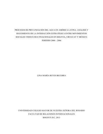 procesos de privatización del agua en américa latina: análisis y ...
