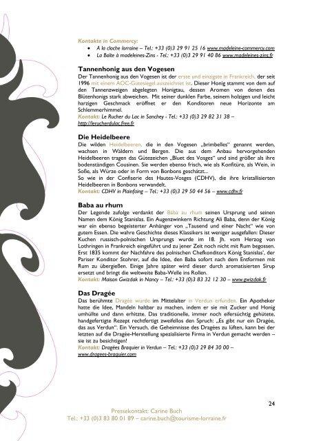 Lothringen - Allgemeines Pressedossier 2012