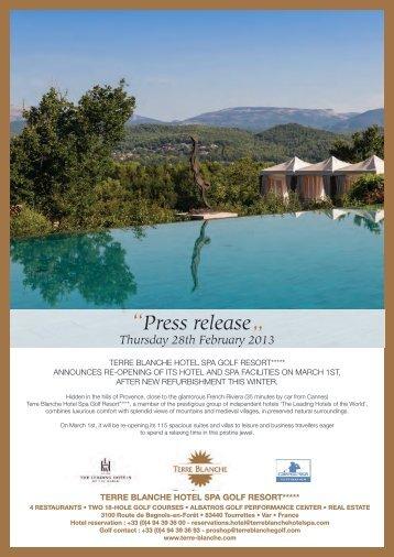 Press release - Maison de la France