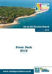 Press Pack 2012 - tourisme en Poitou-Charentes - Destinations ...
