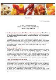Petite Maison de Nicole press release - Maison de la France