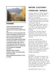 THORENC NATURE DISCOVERY OVERNIGHT SAFARIS