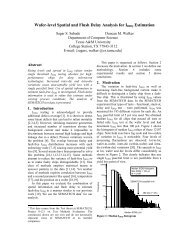 Correlation of Spatial Information and Flush Delays for Estimation of ...
