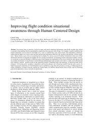 Improving flight condition situational awareness through Human ...