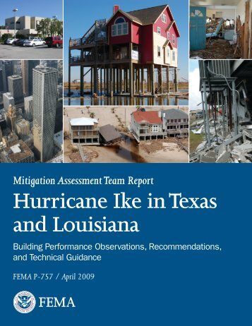 Mitigation assessment team report hurricane ike in texas and louisiana
