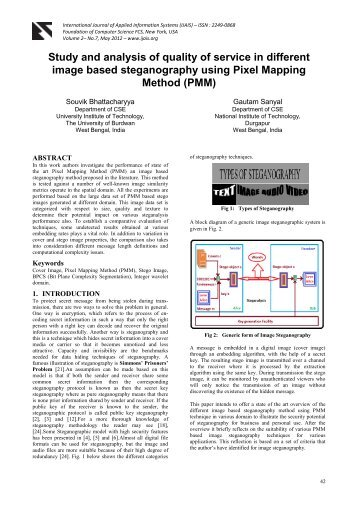 Study and analysis of quality of service in different image based ...