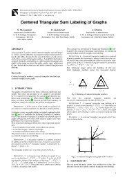 Centered Triangular Sum Labeling of Graphs - International Journal ...