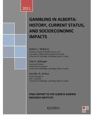 gambling in alberta - Research Services - University of Lethbridge