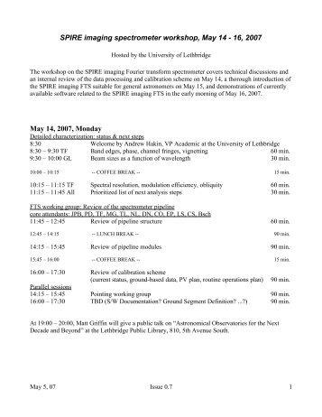 Lethbridge Meeting Agenda v0.7.pdf - University of Lethbridge