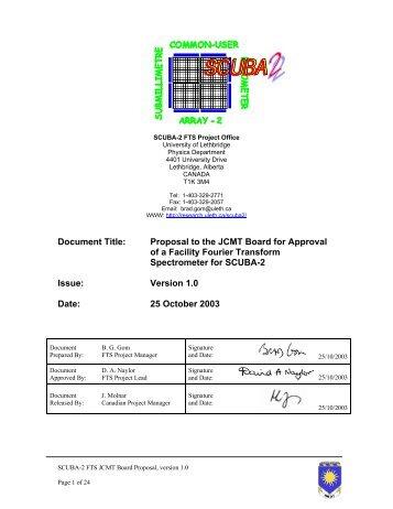 Proposal - Research Services - University of Lethbridge