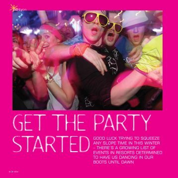 Where to party this season - ResortJobs.co.uk