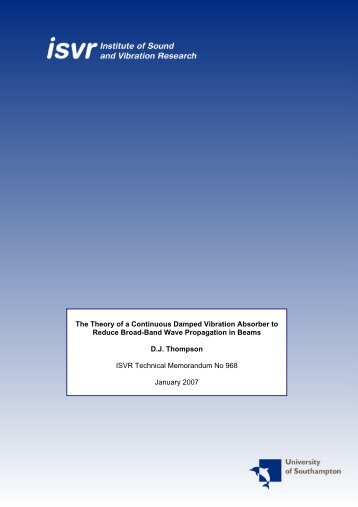 Download - Institute of Sound and Vibration Research - University of ...