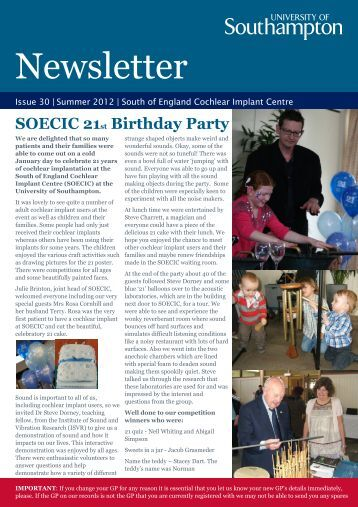 Patients Newsletter summer 2012.pdf - Institute of Sound and ...
