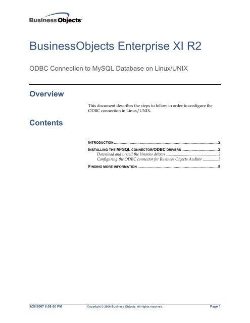 BusinessObjects Enterprise XI R2