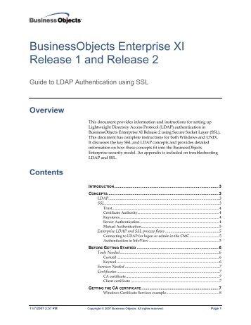 businessobjects enterprise xi r2 rh yumpu com business objects xi 3.1 administration guide sap business objects xi 3.1 installation guide