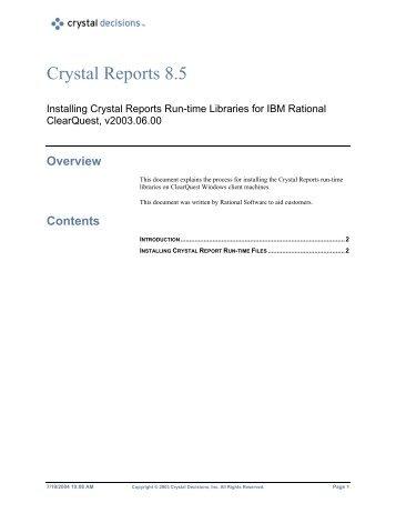 Crystal Reports 8.5 - SAP Developer Network
